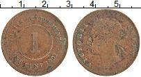 Изображение Монеты Стрейтс-Сеттльмент 1 цент 1901 Медь XF- Виктория