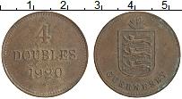 Изображение Монеты Гернси 4 дубля 1920 Бронза XF Н