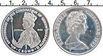 Изображение Монеты Гибралтар 1 крона 1993 Медно-никель UNC- Елизавета II. 40 лет