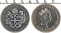 Изображение Монеты Великобритания 5 фунтов 1990 Медно-никель UNC- Елизавета II. 90 лет
