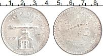 Изображение Монеты Мексика 1 унция 1980 Серебро UNC- 1 тройская унция.Вес