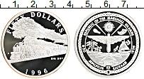 Изображение Монеты Маршалловы острова 5 долларов 1996 Серебро Proof `Паровоз ``Большой М