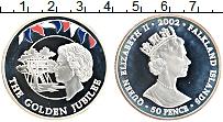 Изображение Монеты Фолклендские острова 50 пенсов 2002 Серебро Proof- Цифровая печать. 50
