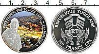 Изображение Монеты Того 100 франков 2014 Посеребрение Proof- Цветная печть. Папа