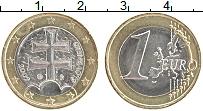 Продать Монеты Словакия 1 евро 2009 Биметалл