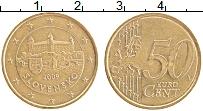 Продать Монеты Словакия 50 евроцентов 2009 Латунь