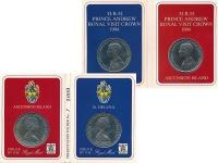 Изображение Подарочные монеты Остров Святой Елены Королевский визит 1984 Медно-никель UNC