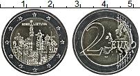 Изображение Мелочь Литва 2 евро 2020 Биметалл UNC Гора Крестов