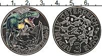 Изображение Мелочь Австрия 3 евро 2020 Медно-никель UNC Динозавры. Тиранозав