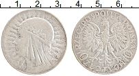 Изображение Монеты Польша 10 злотых 1932 Серебро XF Королева Ядвига