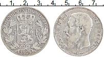 Изображение Монеты Бельгия 5 франков 1869 Серебро XF Леопольд II