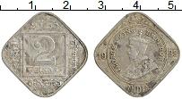 Изображение Монеты Индия 2 анны 1933 Медно-никель XF Георг V