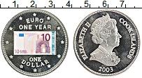 Изображение Монеты Острова Кука 1 доллар 2003 Медно-никель Proof- Цифровая печать. Ели