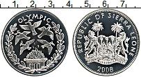 Изображение Монеты Сьерра-Леоне 10 долларов 2008 Серебро Proof XXIX Летние олимпийс