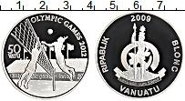 Изображение Монеты Вануату 50 вату 2009 Серебро Proof XXX Летние олимпийск