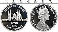 Изображение Монеты Гибралтар 5 фунтов 2005 Серебро Proof Елизавета II. XXVIII