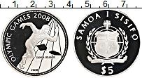 Изображение Монеты Самоа 5 долларов 2008 Серебро Proof XXIX Летние олимпийс