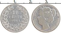 Изображение Монеты Нидерланды 25 центов 1904 Серебро VF Вильгельмина