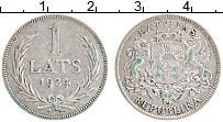 Изображение Монеты Латвия 1 лат 1924 Серебро XF Герб
