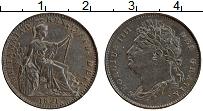 Изображение Монеты Великобритания 1 фартинг 1821 Медь UNC- Георг IV