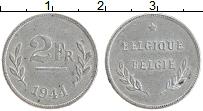 Изображение Монеты Бельгия 2 франка 1944 Цинк XF+ Союзная оккупация
