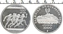 Изображение Монеты Греция 1000 драхм 1996 Серебро Proof- 100 лет Олимпийскому