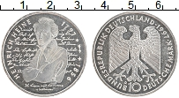 Изображение Монеты ФРГ 10 марок 1997 Серебро UNC Генрих Гейне D