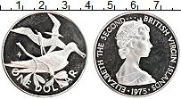 Изображение Монеты Виргинские острова 1 доллар 1975 Серебро Proof- Елизавета II