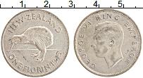 Изображение Монеты Новая Зеландия 1 флорин 1945 Серебро XF Георг VI