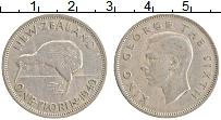 Изображение Монеты Новая Зеландия 1 флорин 1949 Медно-никель XF Георг VI