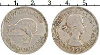 Изображение Монеты Новая Зеландия 1 флорин 1964 Медно-никель XF Елизавета II