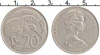Изображение Монеты Новая Зеландия 20 центов 1967 Медно-никель XF