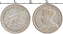 Изображение Монеты Новая Зеландия 6 пенсов 1933 Серебро XF Георг V