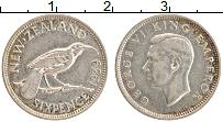 Изображение Монеты Новая Зеландия 6 пенсов 1939 Серебро XF Георг VI