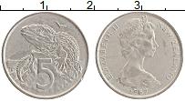 Изображение Монеты Новая Зеландия 5 центов 1967 Медно-никель XF Елизавета II
