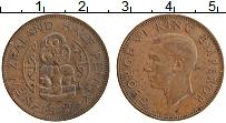 Изображение Монеты Новая Зеландия 1/2 пенни 1942 Бронза XF Георг VI (Редкий год