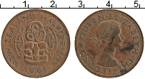 Изображение Монеты Новая Зеландия 1/2 пенни 1961 Бронза XF Елизавета II