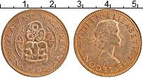 Изображение Монеты Новая Зеландия 1/2 пенни 1962 Бронза UNC- Елизавета II