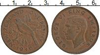 Изображение Монеты Новая Зеландия 1 пенни 1946 Бронза XF Георг VI