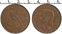 Изображение Монеты Новая Зеландия 1 пенни 1947 Бронза XF Георг VI