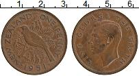 Изображение Монеты Новая Зеландия 1 пенни 1951 Бронза XF Георг VI