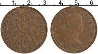 Изображение Монеты Новая Зеландия 1 пенни 1956 Бронза XF Елизавета II