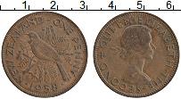 Изображение Монеты Новая Зеландия 1 пенни 1958 Бронза XF Елизавета II