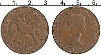 Изображение Монеты Новая Зеландия 1 пенни 1959 Бронза XF Елизавета II