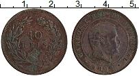 Изображение Монеты Португалия 10 рейс 1892 Бронза VF Карлуш I