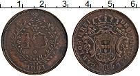 Изображение Монеты Азорские острова 10 рейс 1901 Медь XF Карлуш I