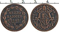 Изображение Монеты Ватикан 1/2 байоччи 1848 Медь XF Пий IX