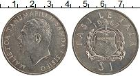 Изображение Монеты Самоа 1 доллар 1967 Медно-никель UNC- Малиетоа Танумафили