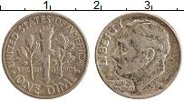 Изображение Монеты США 1 дайм 1954 Серебро XF Теодор Рузвельт