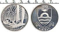 Изображение Монеты Кирибати 20 долларов 1992 Серебро Proof- XXV Летние олимпийск
